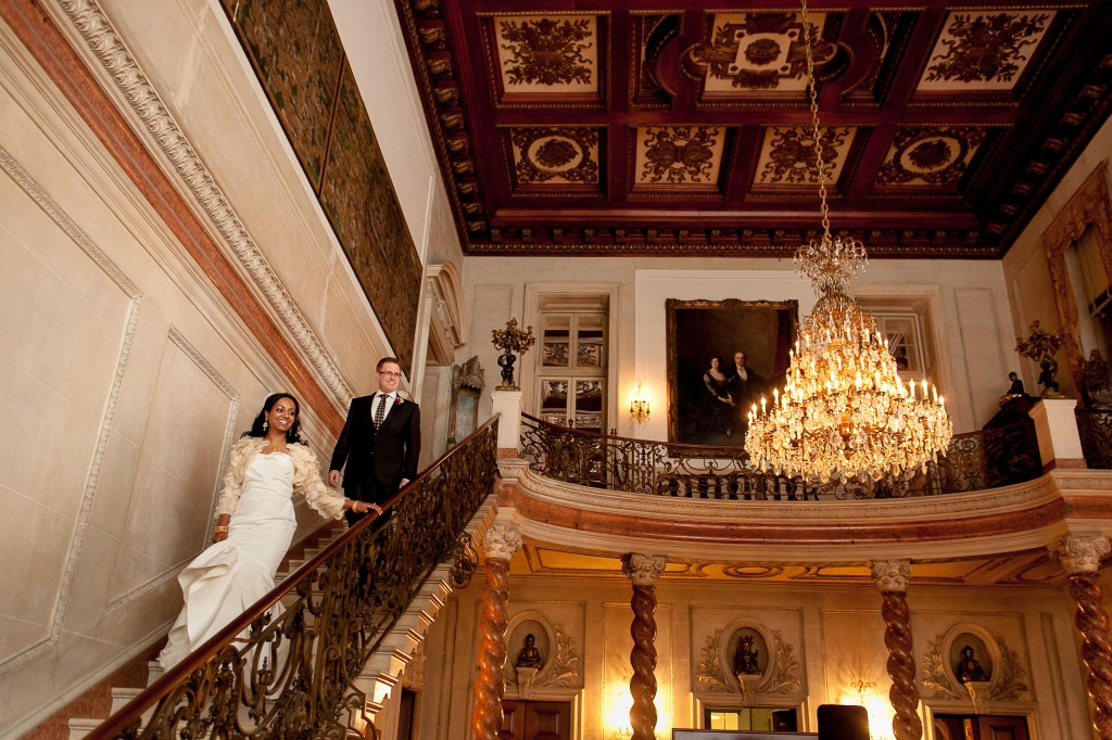 Anderson House DC Wedding Stairs