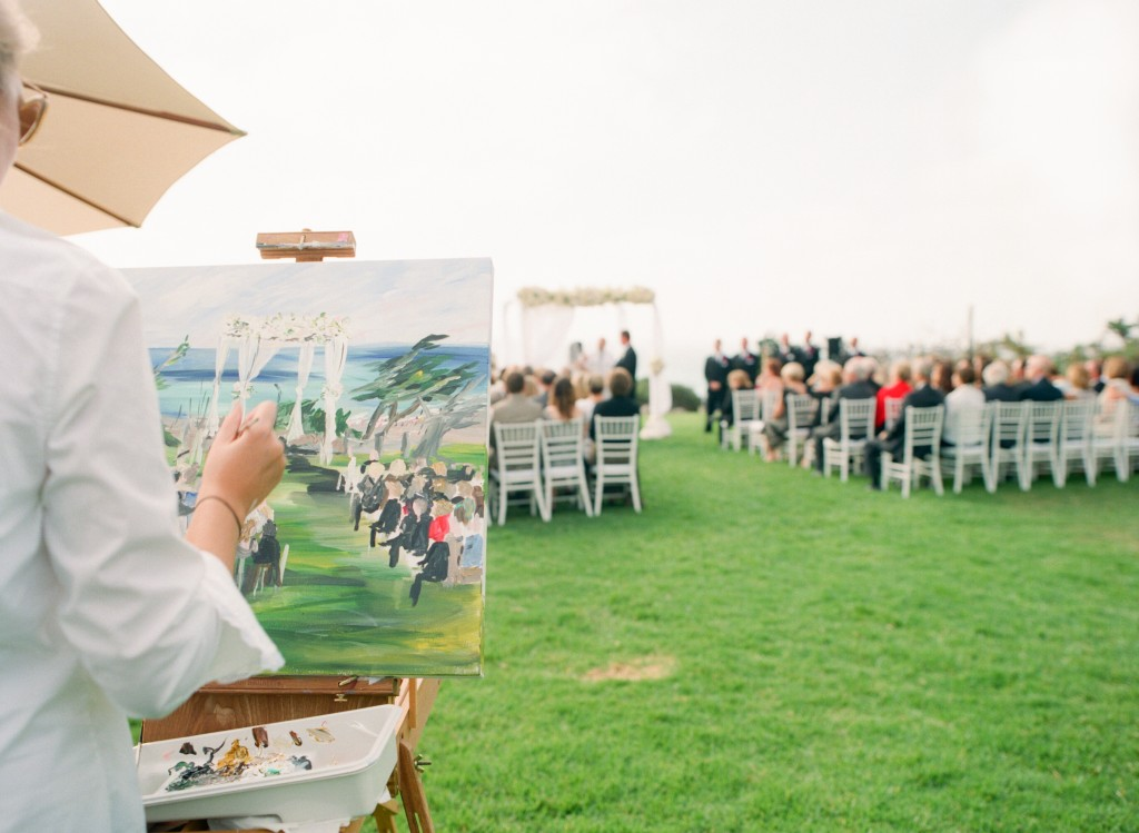 Live Painting Del Mar Wedding