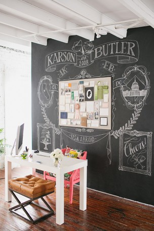 Chalkboard Wall by Anchor B
