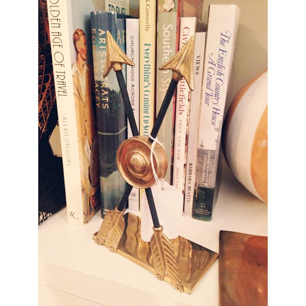 Brass Arrow Bookends