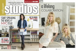 Featured in Studios Magazine