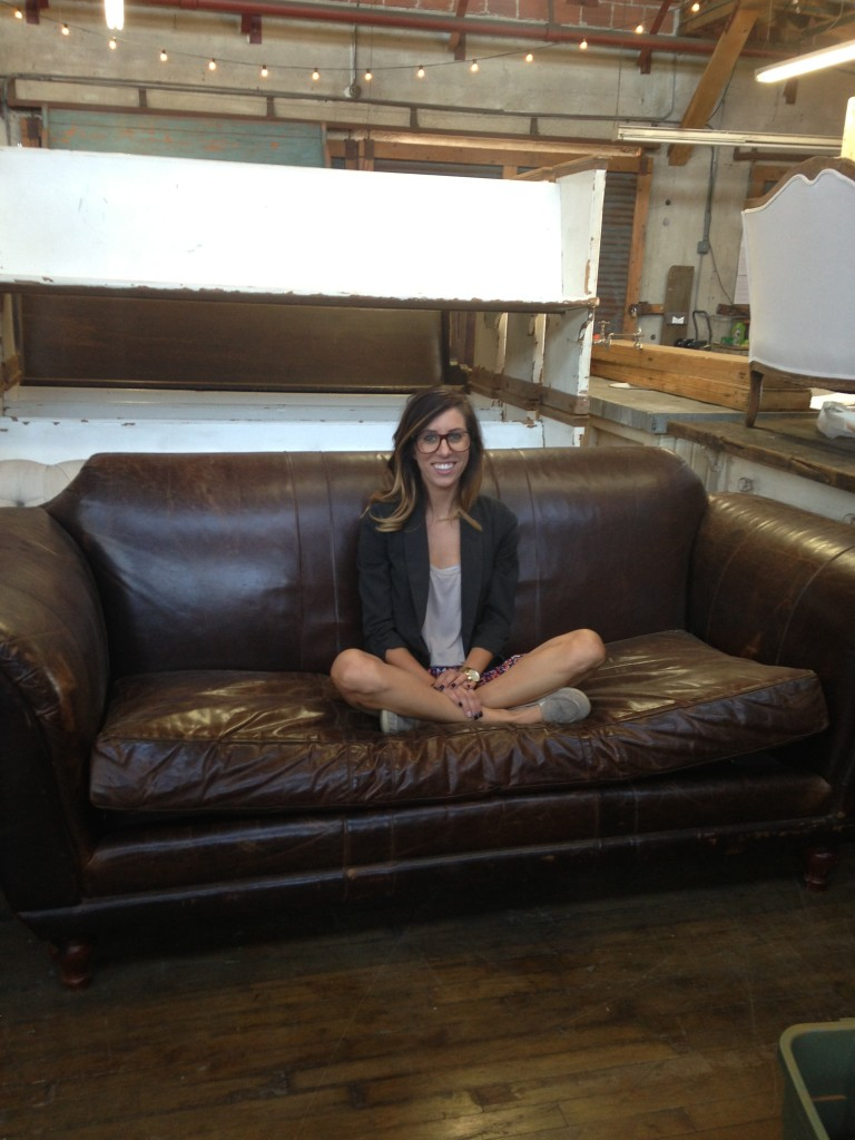 Jewel Watson Brown Leather Couch Found