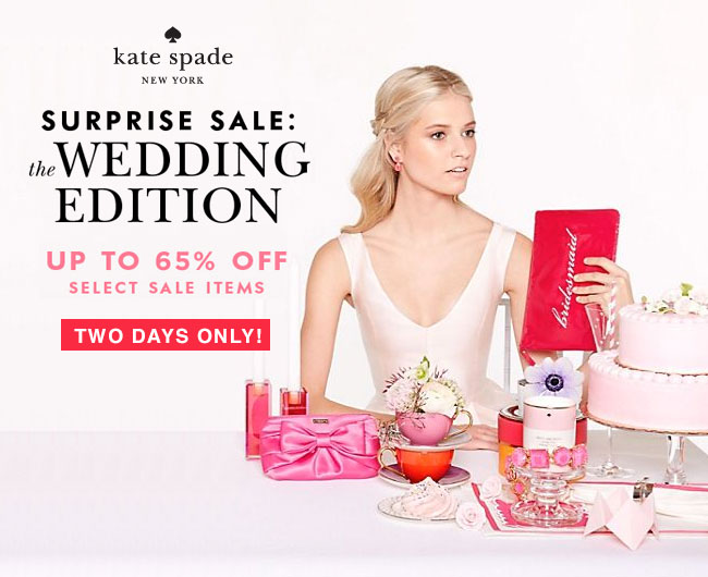 Kate Spade Surprise Sale: Wedding Edition | Karson Butler Events