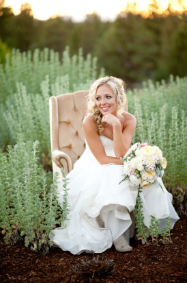 Oregon Bride: Jessica & Bryan's Rustic Glam Wedding