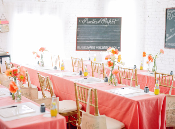 Wedding Chicks: Laura Hooper Calligraphy Workshop