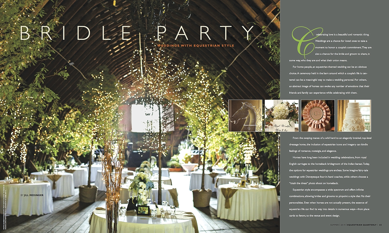 "Equestrian Quarterly ""Bridle Party"" Feature"