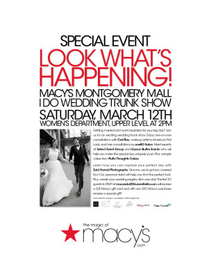 Macy's I Do Wedding Trunk Show