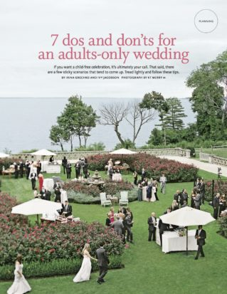 The Knot: 7 Do's & Don'ts for an Adult-Only Wedding