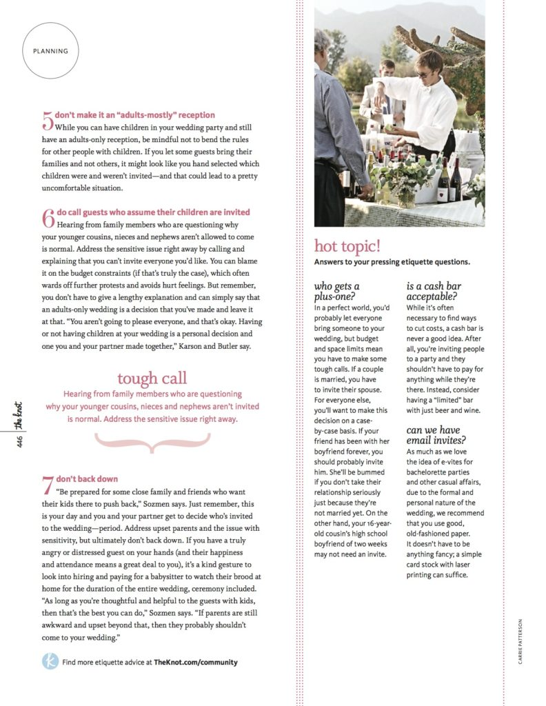 page 3 The Knot - 7 dos and donts for adult only wedding