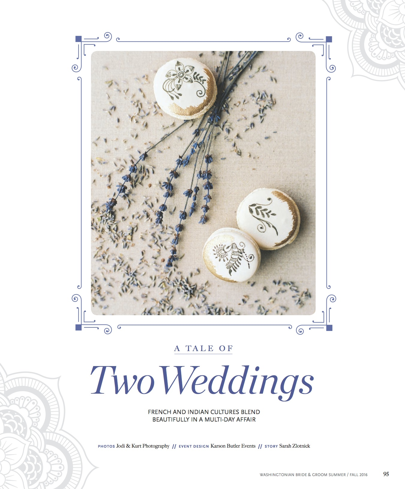 Featured in Washingtonian Bride & Groom: A Tale of Two Weddings