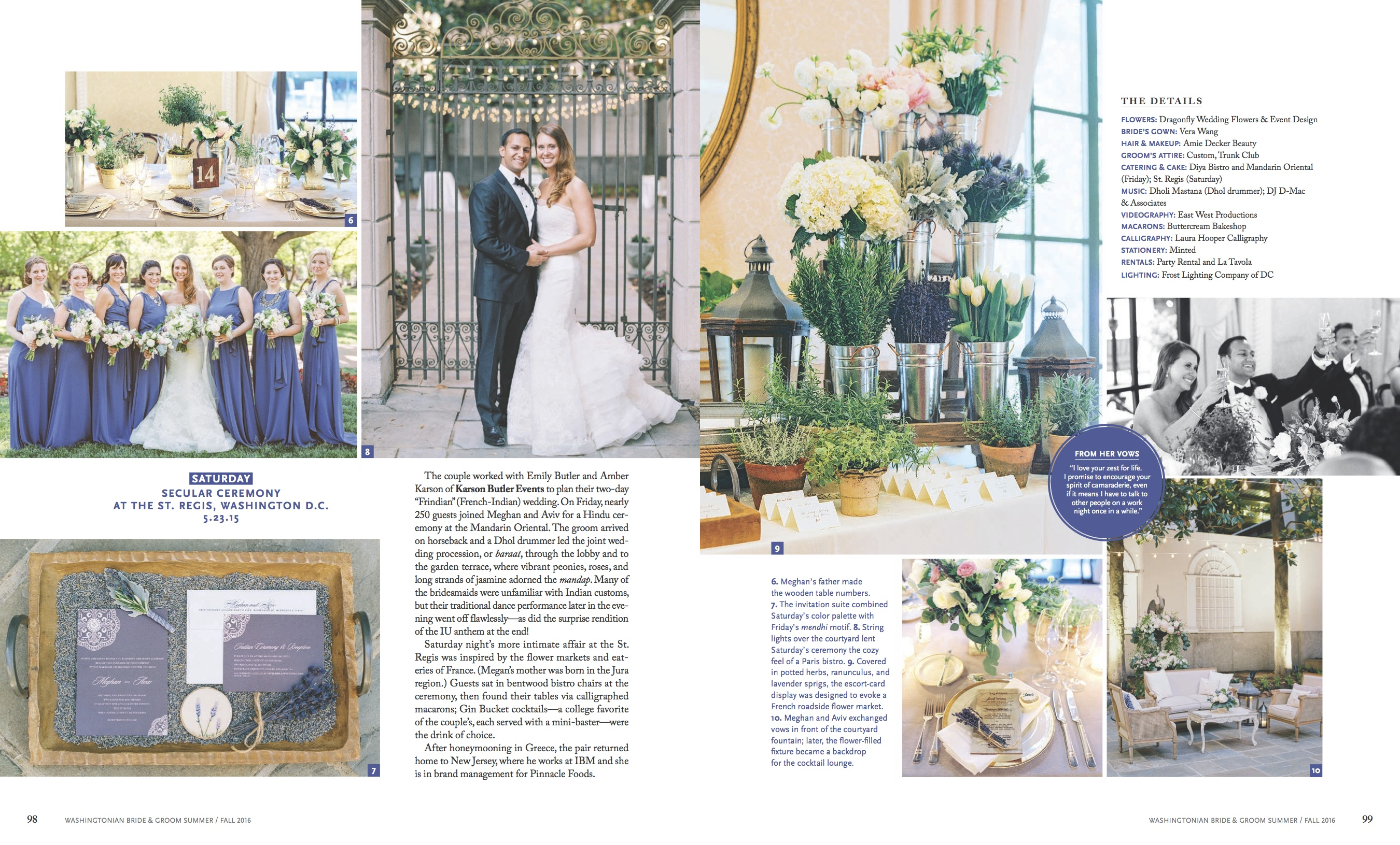 Washingtonian Bride & Groom: A Tale of Two Weddings