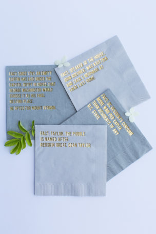 KBE Party Favs: Personalized Cocktail Napkins