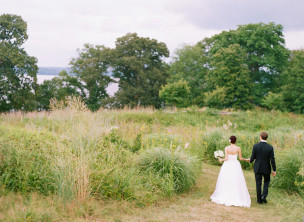 Featured on Style Me Pretty: Sara & George's River Farm Wedding