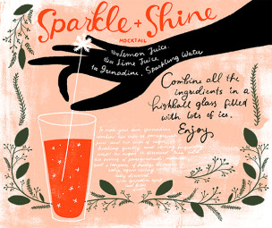 New Year's Eve Drink Recipes & Inspiration with Oh So Beautiful Paper