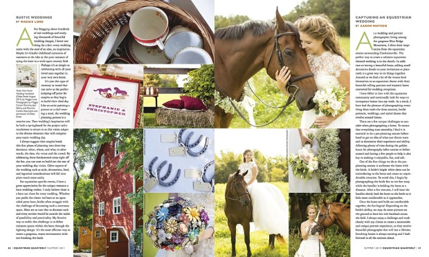 """Equestrian Quarterly """"Bridle Party"""" Feature"""