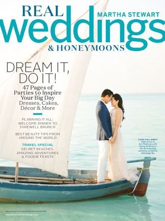 Featured in Martha Stewart Weddings: South-Meets-East Coast Nautical Maine Wedding
