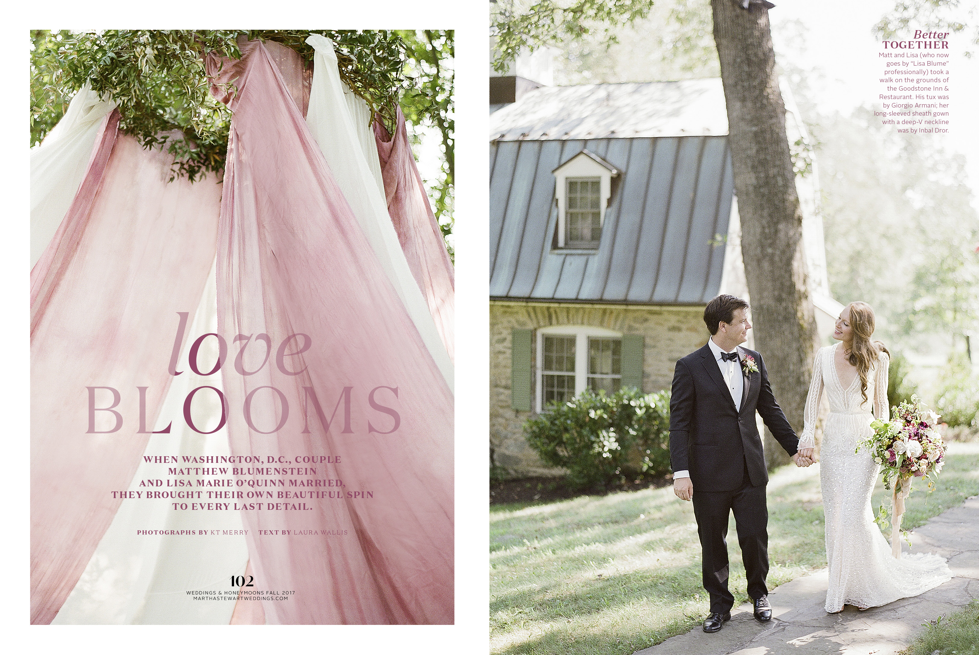 Featured in Martha Stewart Weddings – On Stands Now!